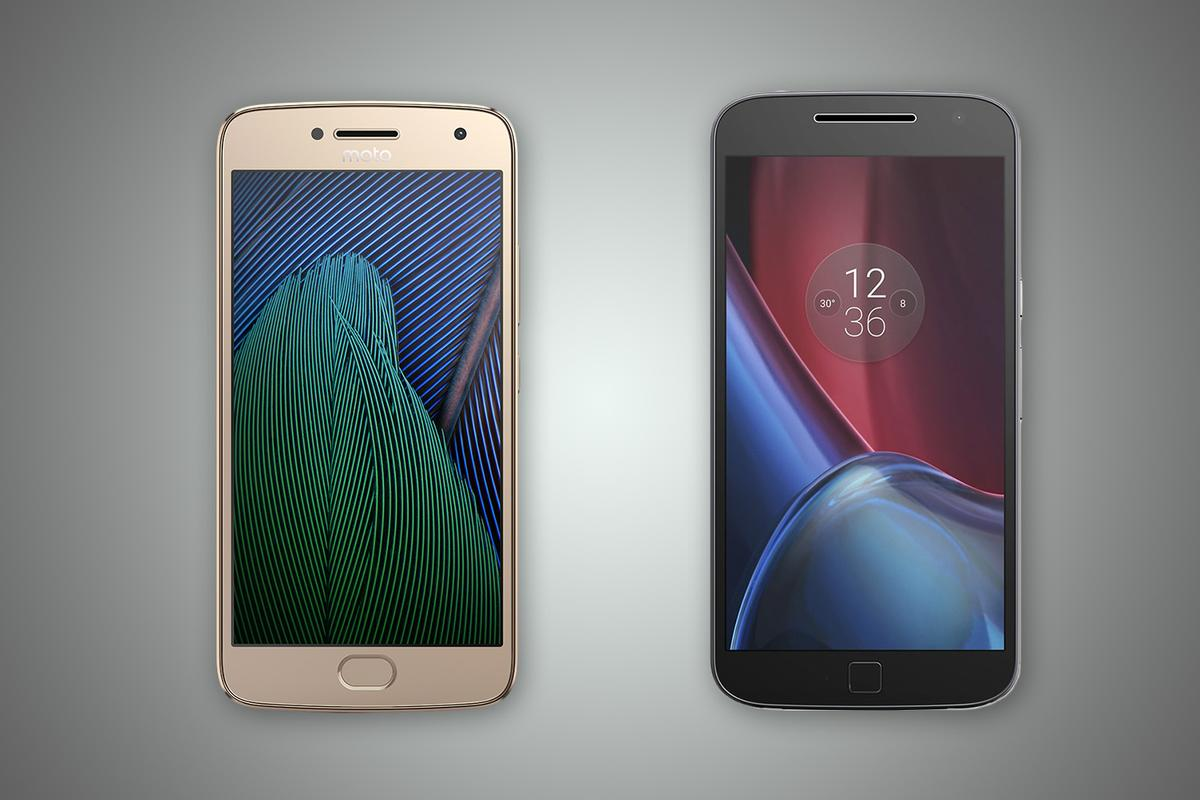 New Atlas compares the features and specs of the Moto G5 Plus (left) and Moto G4 Plus