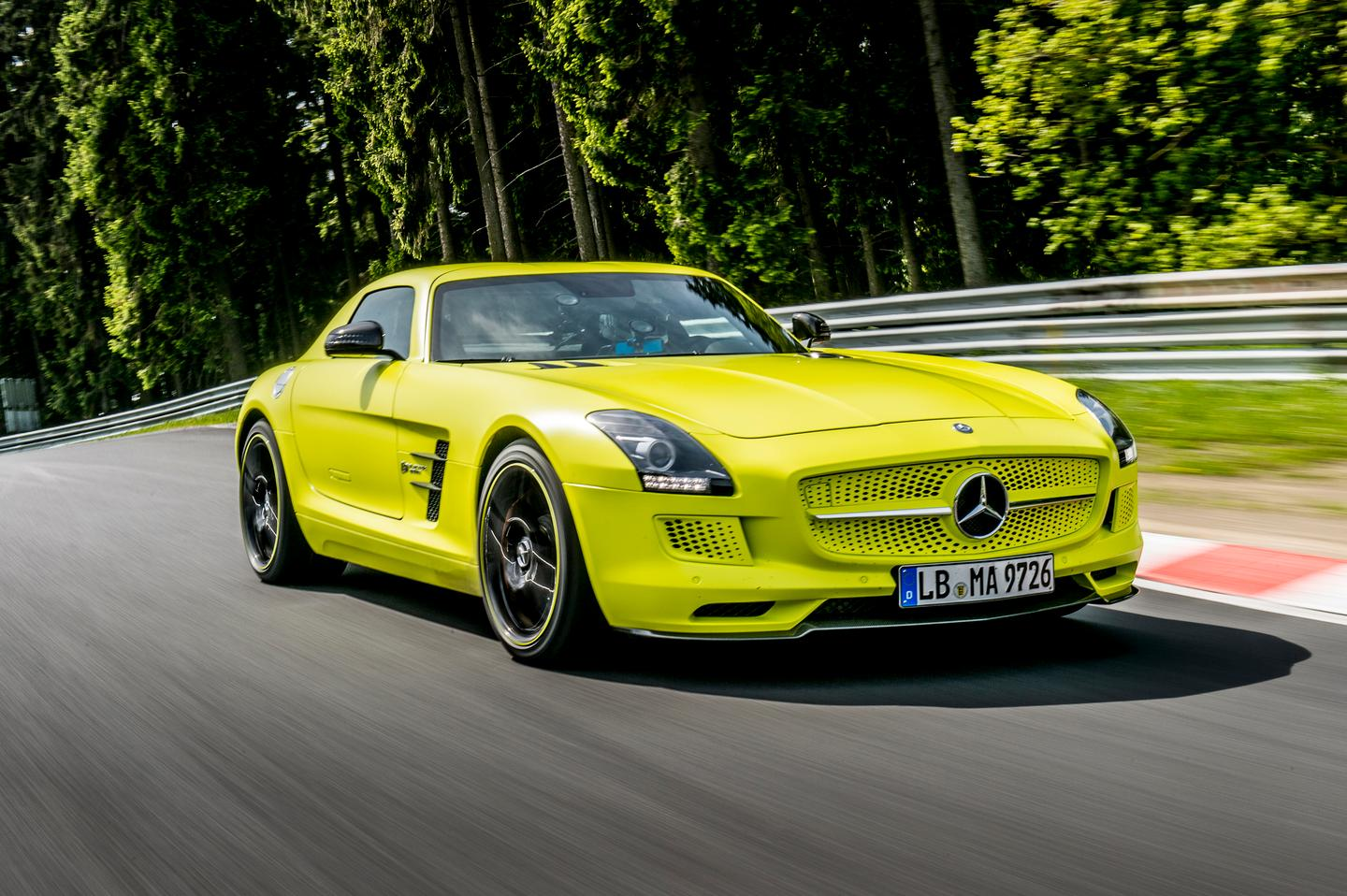 The Mercedes SLS AMG Coupé Electric Drive sets a 'Ring record
