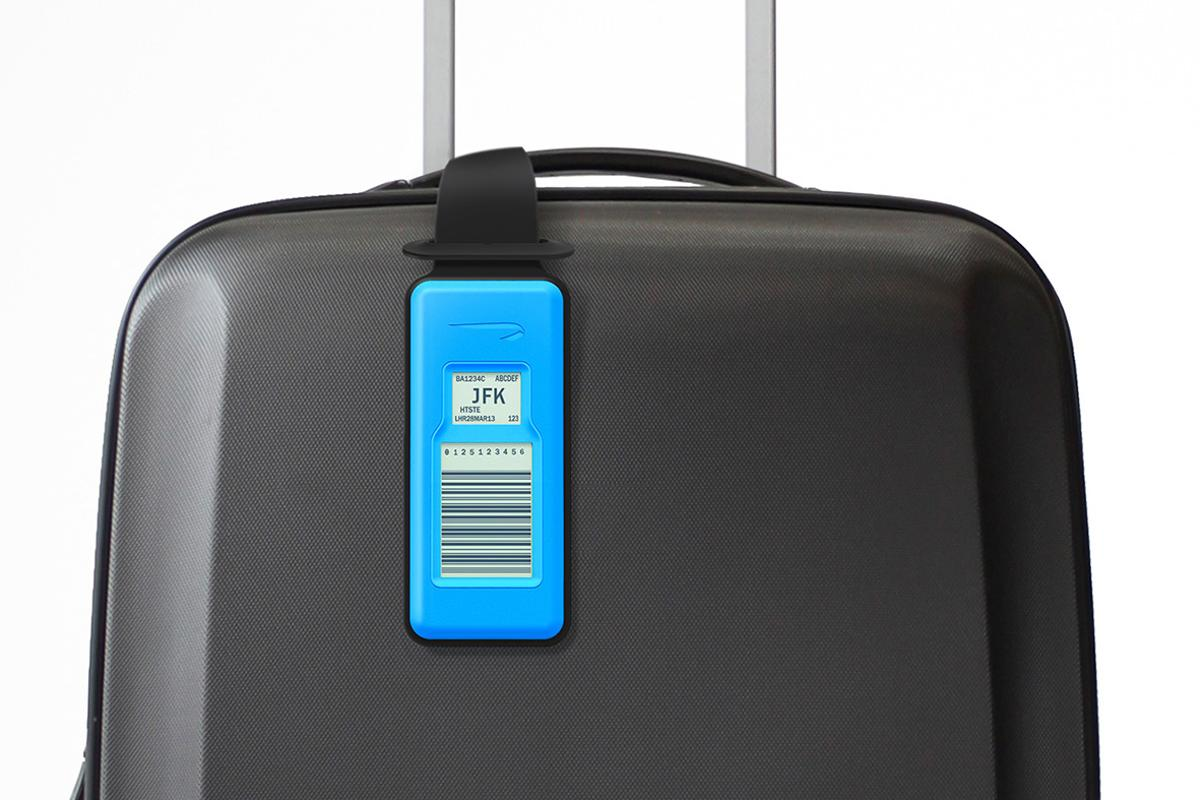 British Airways is testing an electronic luggage tag that travelers can update with a smartphone and re-use over and over