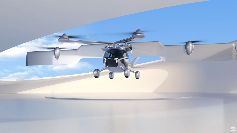 The entire wing tilts upward for VTOL operations