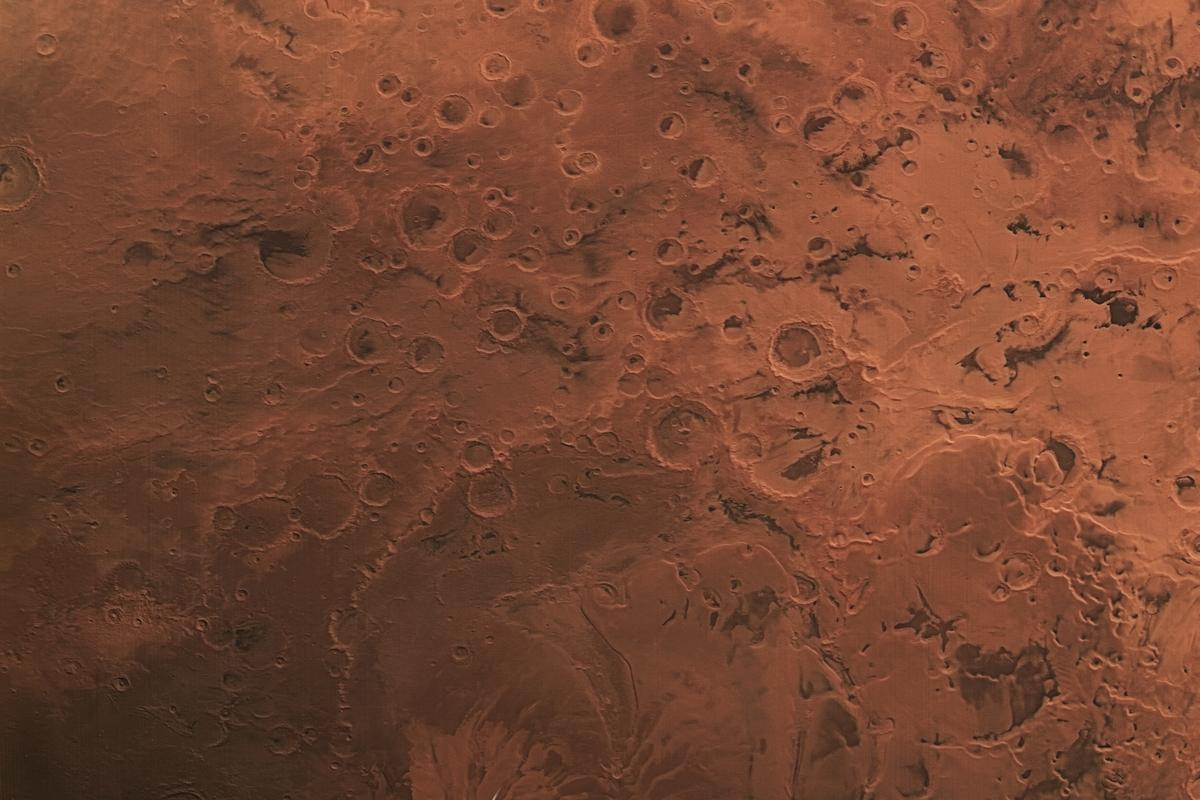 This image captured by ESA's Mars Express spacecraft showcases a wide array of geological features