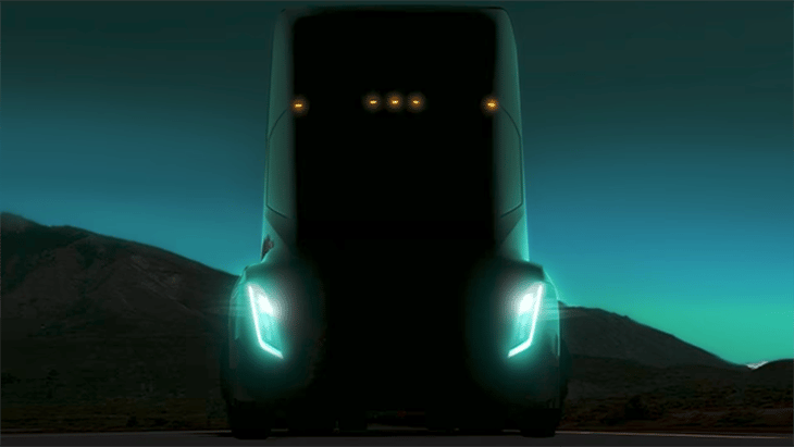 Tesla will unveil its all-electric semi on October 26