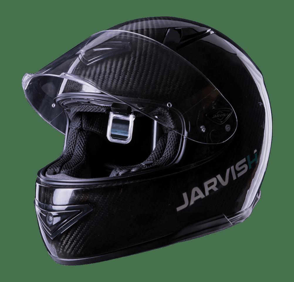 Jarvish X-AR HUD smart helmet: drop-down eyepiece adds an information overlay