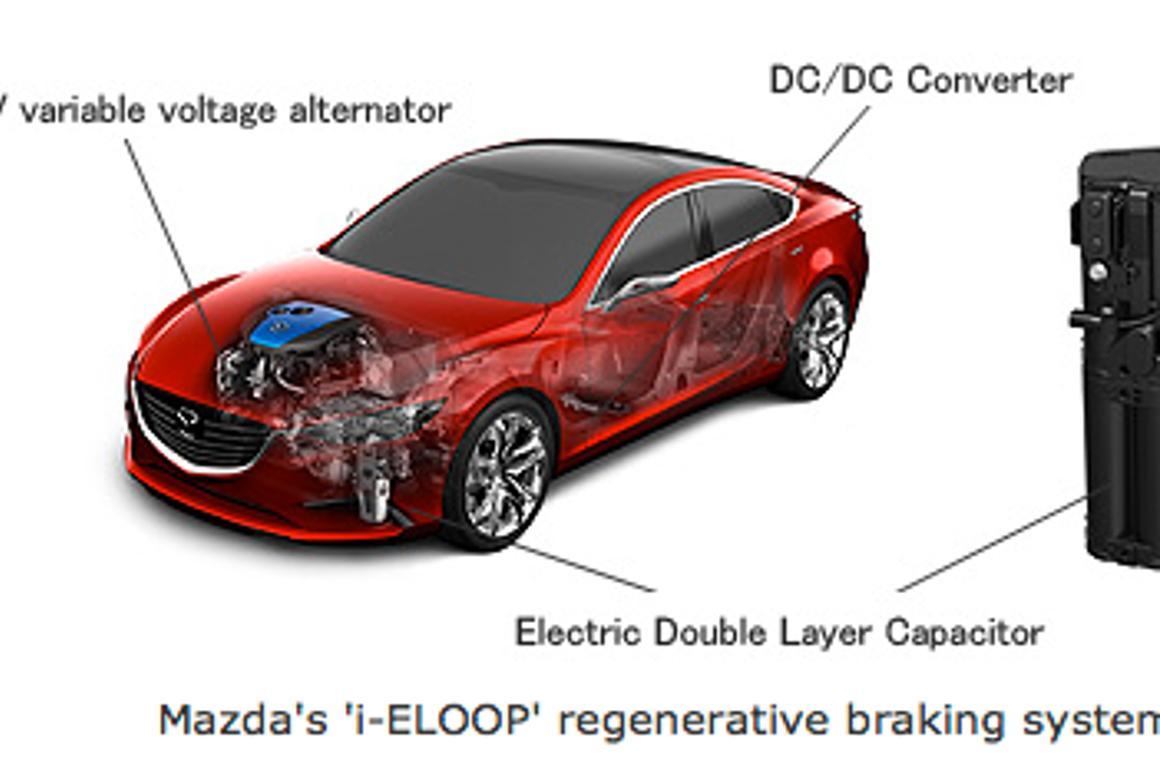 Mazda announces world first capacitor-based regenerative