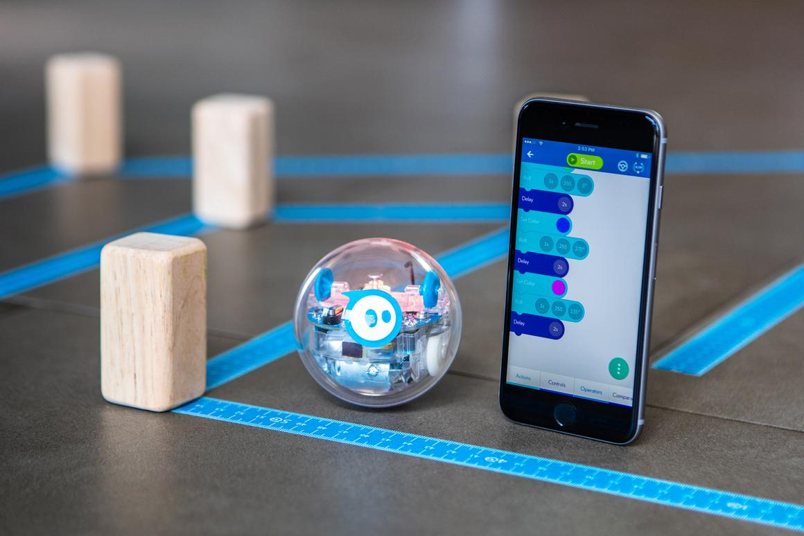 The Sphero SPRK+ robot ball is designed to help teach kids about coding