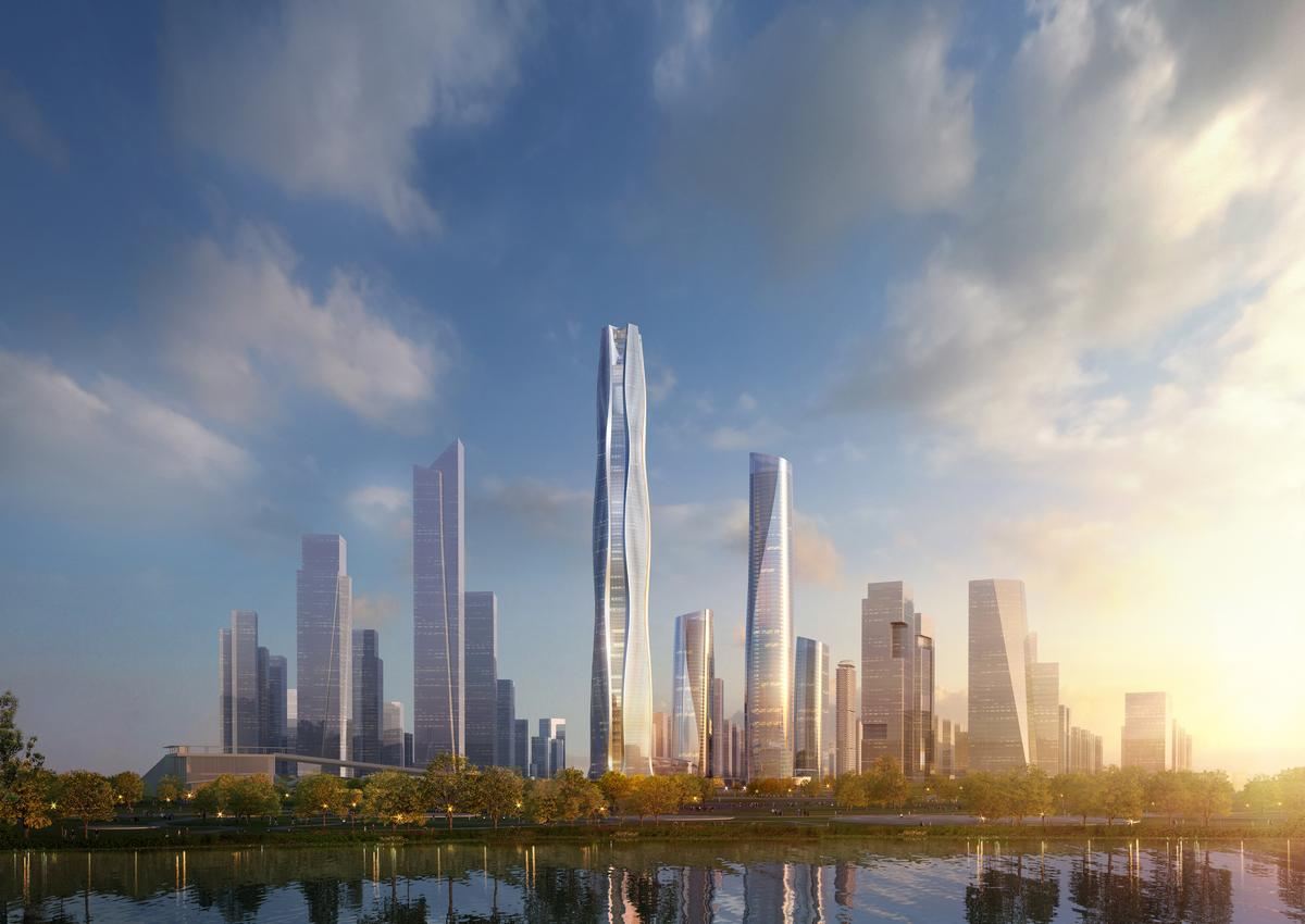 The South HeXi Yuzui Financial District Tower is expected to be completed in 2025