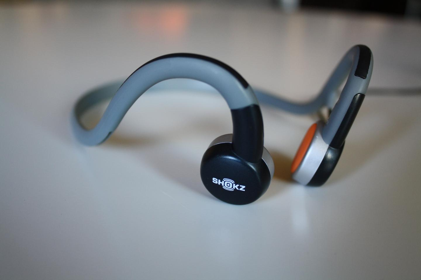 Aftershokz send high fidelity, stereo quality sound, directly through the skull to the inner ear