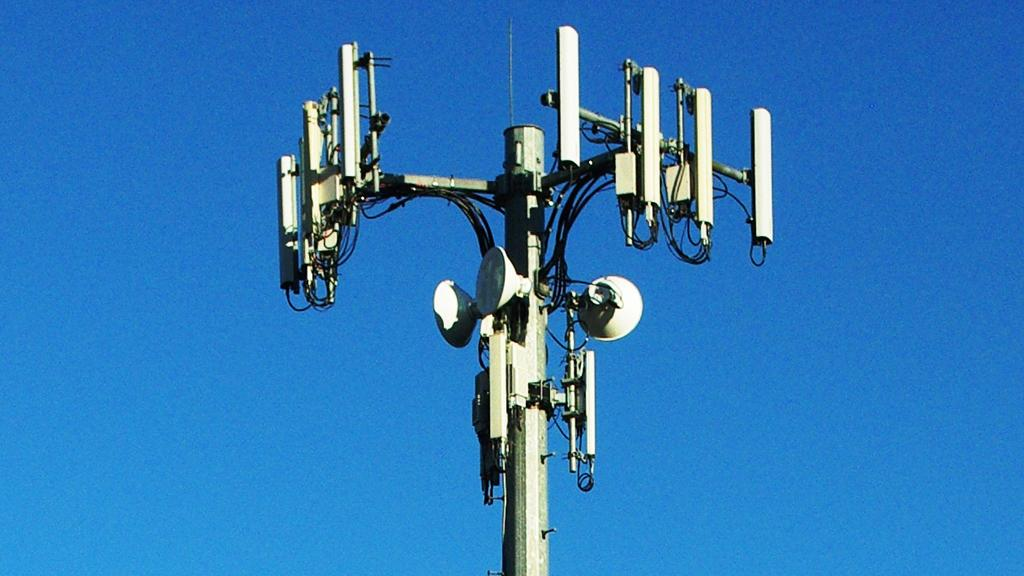 A mobile phone tower provides 3G broadband access to those without a direct Internet connection (Image: Aboutmovies via Wikipedia Commons)