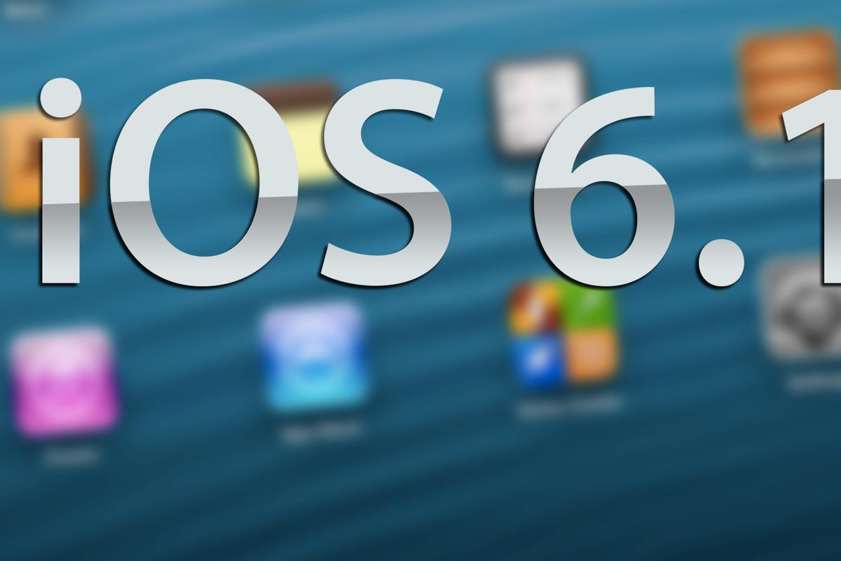 Apple released iOS 6.1 today