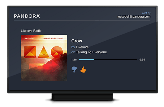 Pandora brings another music streaming option to the Google Chromecast
