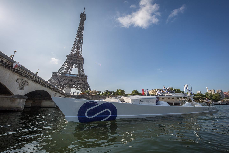 TheEnergy Observer just docked in Paris