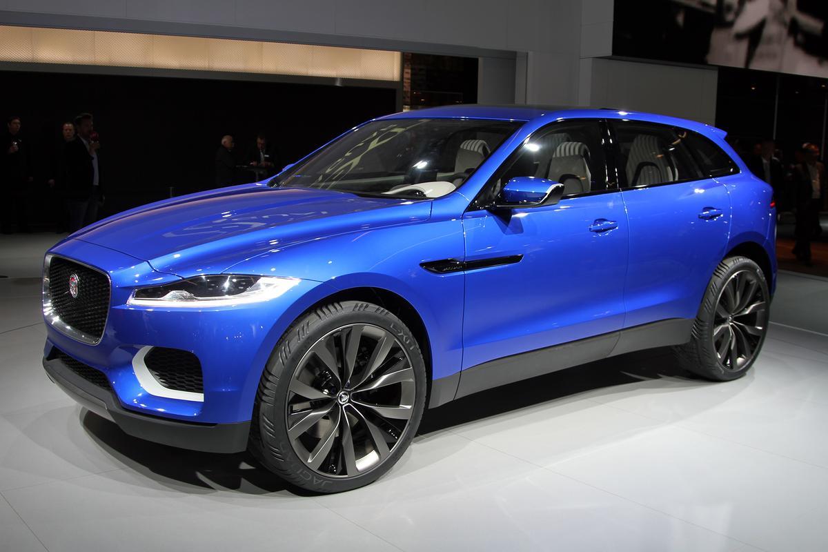 Jaguar's C-X17 sports crossover concept, on display at the 2013 Frankfurt Motor Show