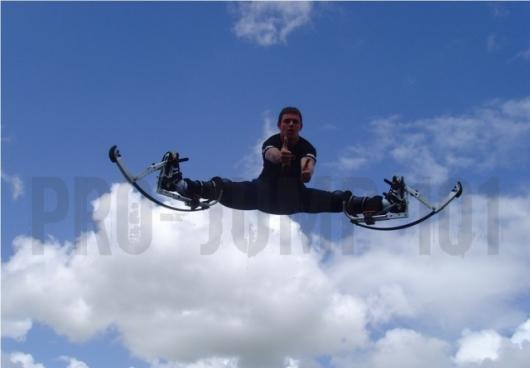 Powerbocks allow users to leap 6 feet in the air, run at 25mph and stride nine feet at a time(Photo: pro-jump.co.uk)