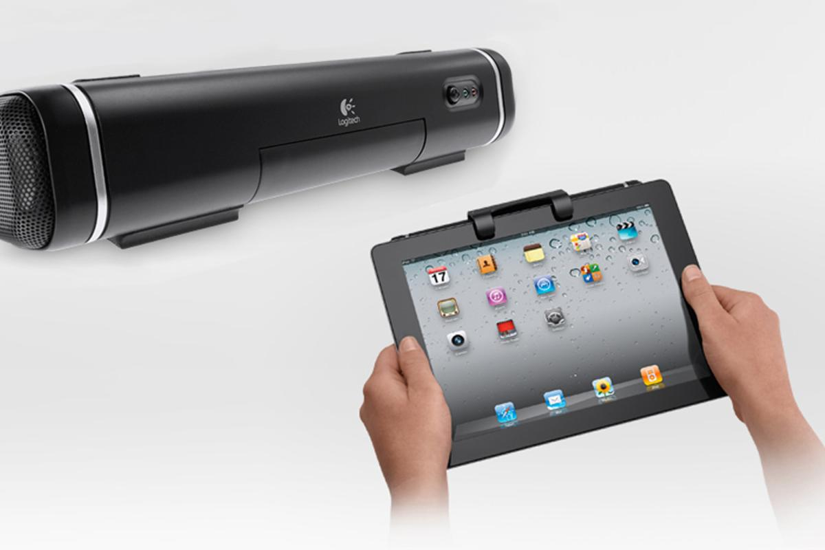 The Logitech Tablet Speaker for iPad gives the iPad some extra audio grunt