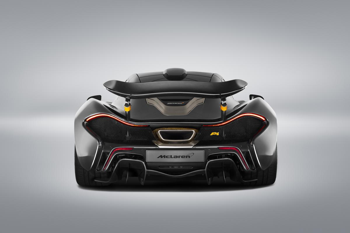 The special edition P1 is painted in a special shade of metallic gray, with orange highlights spread around the body