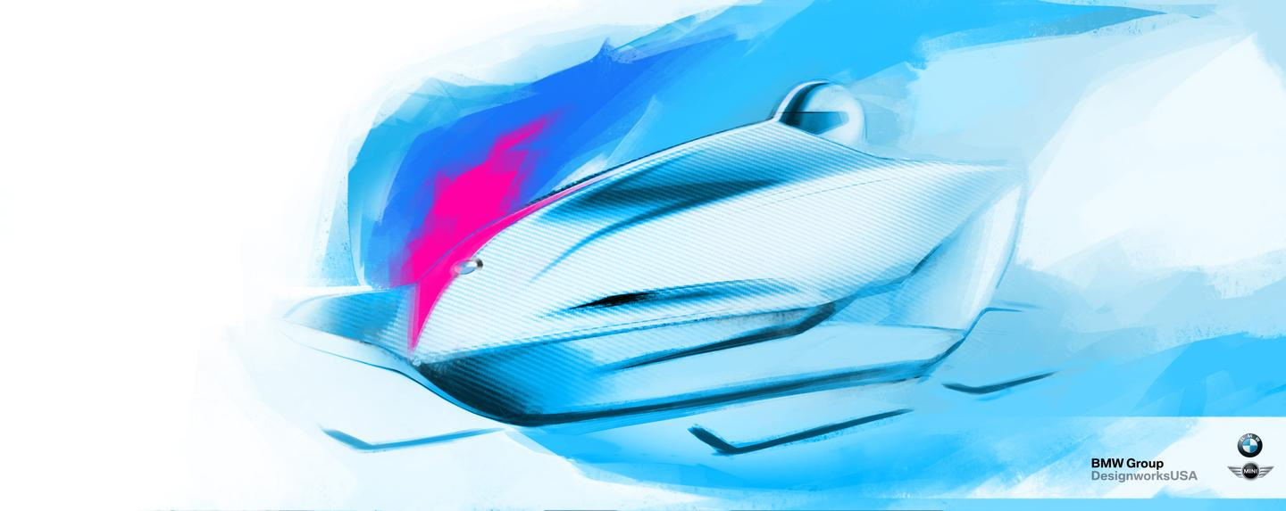 BMW has provided a sneak peek at its two-man bobsled, in the form of this illustration