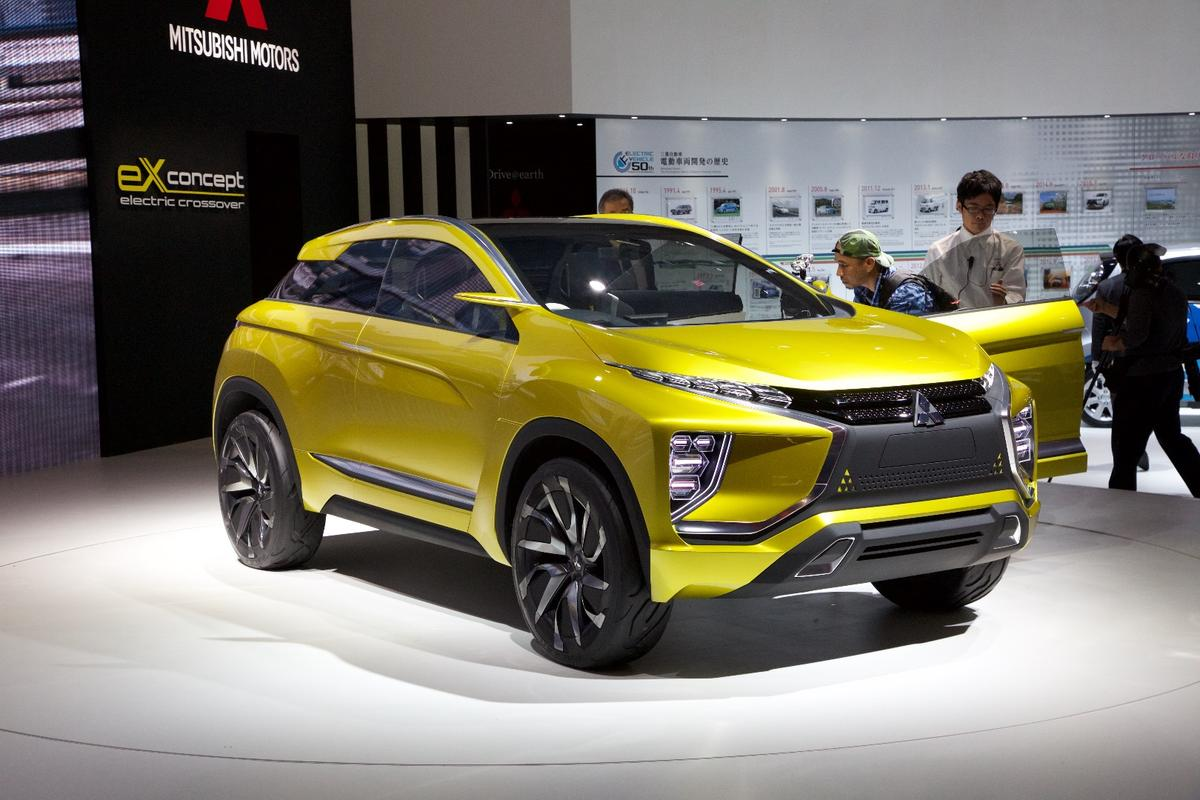 The Mitsubishi eX Concept unveiled at the Tokyo Motor Show 2015