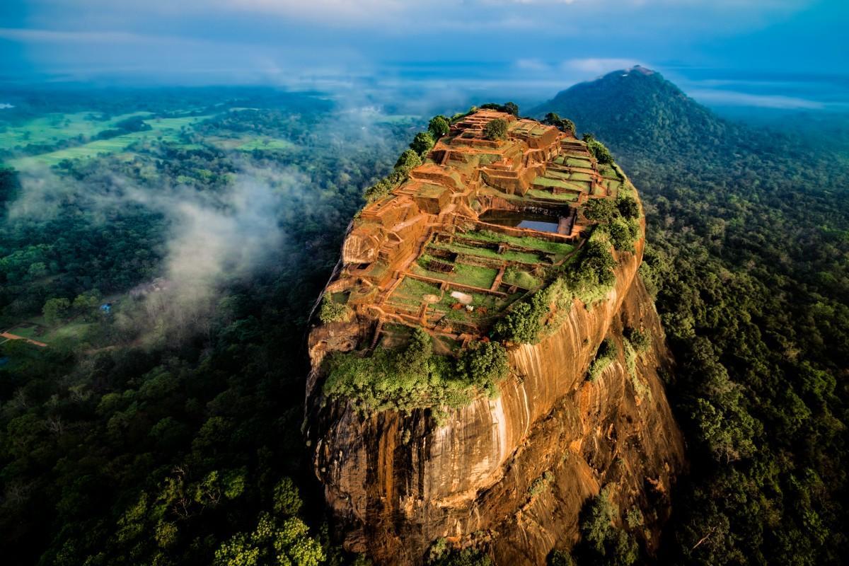 "Sygiriya, the legendary ""lion rock"" in Sri Lanka, is an ancient village built in the sky"