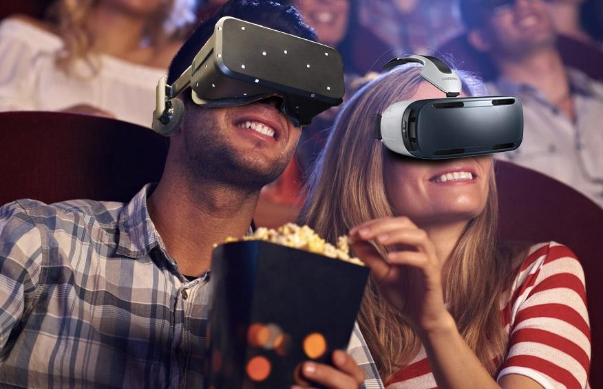 Perhaps future movie theaters will incorporate VR headsets, for a more immersive movie-going experience (Image remixed by Gizmag from StockLite/Shutterstock)