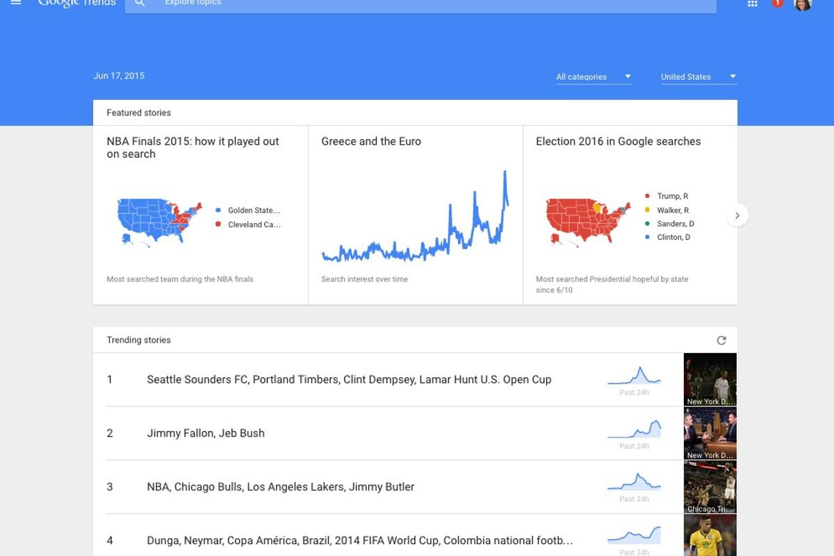 The new Google Trends