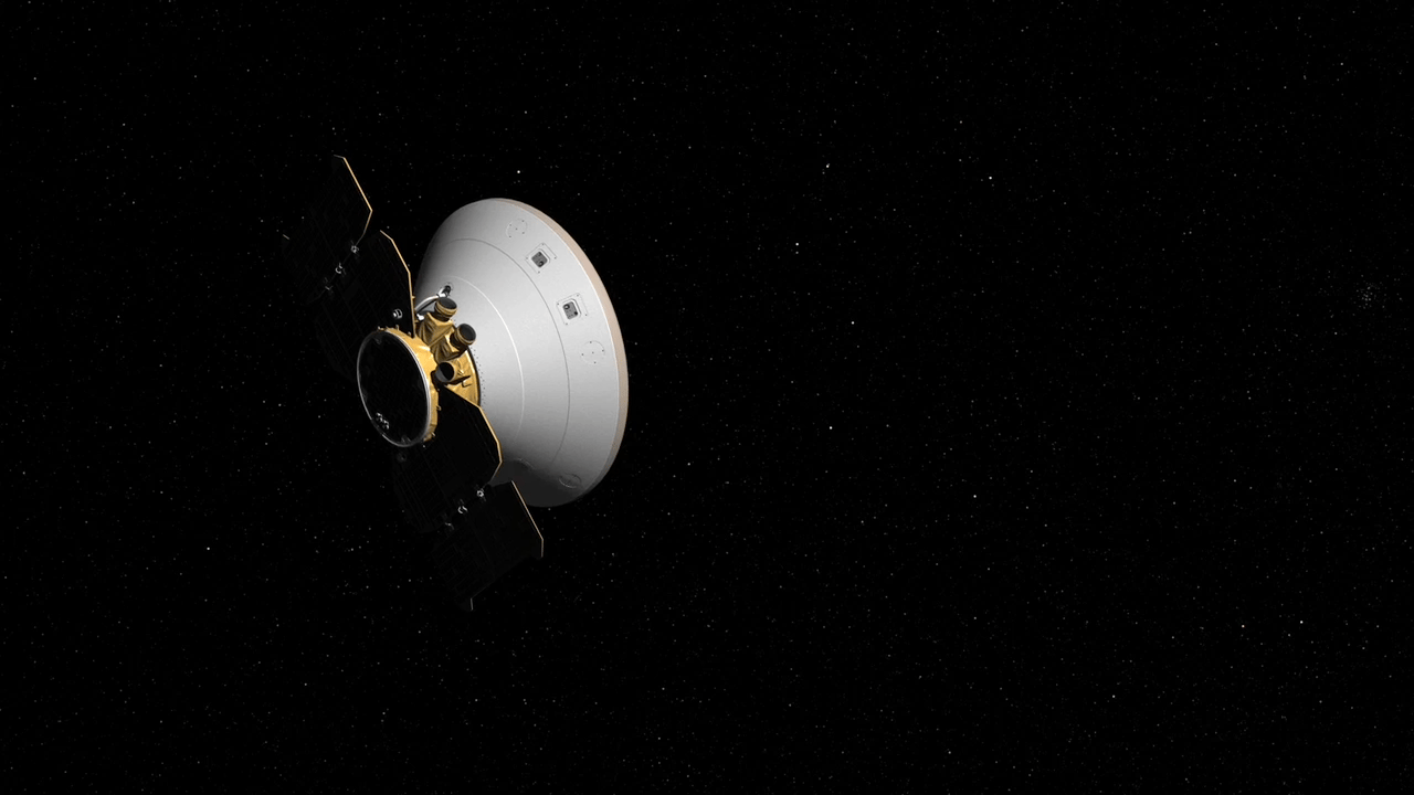 Artist's concept of InSight in cruise mode