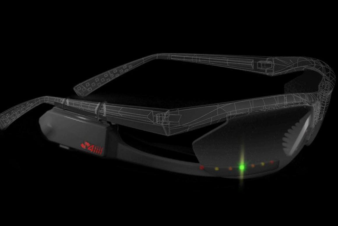 Sportiiiis HUD for athletes can be mounted on virtually all glasses, wirelessly pairs with perfromance monitoring equipment and feeds back workout information to the user via colored LEDs and audio