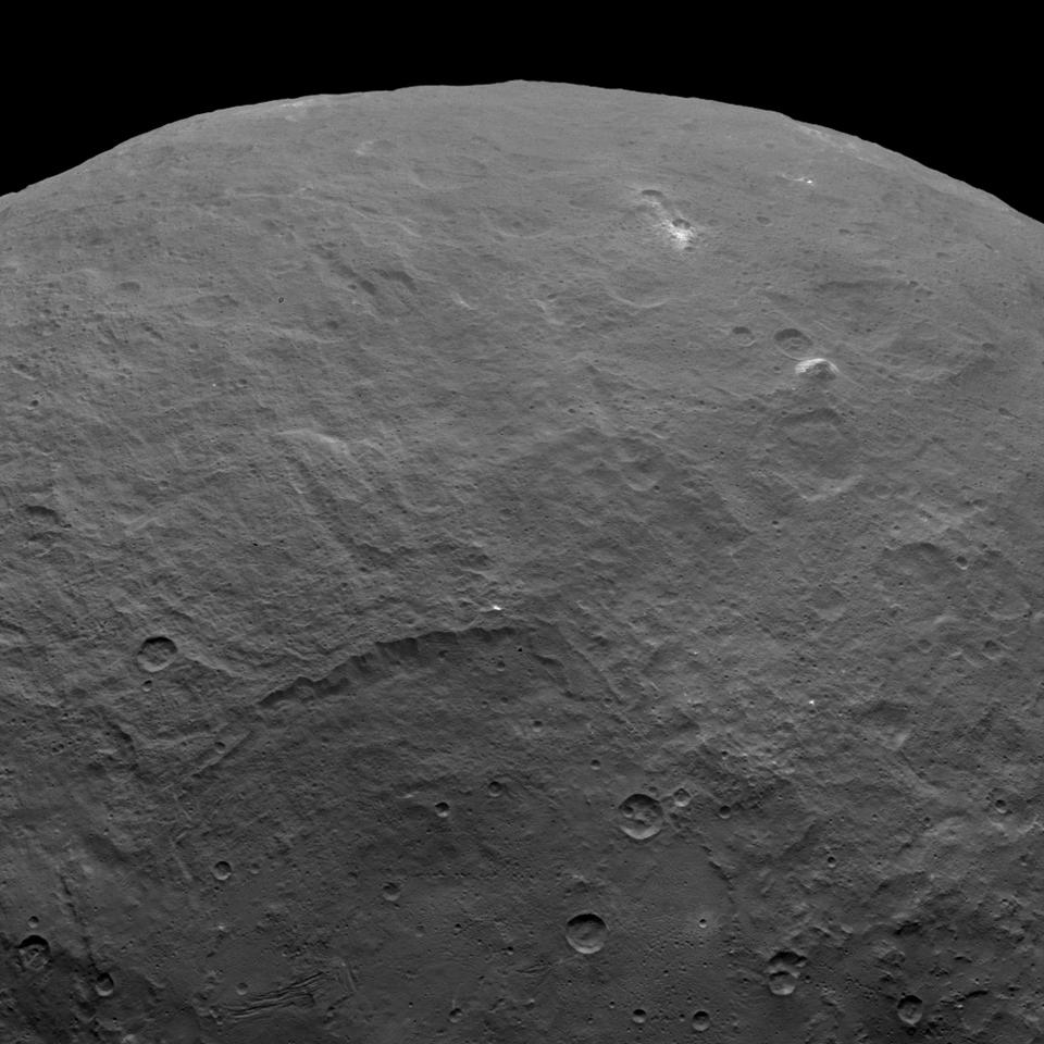 The lonely mountain is clearly visable in the upper right of this image was snapped by Ceres on June 6