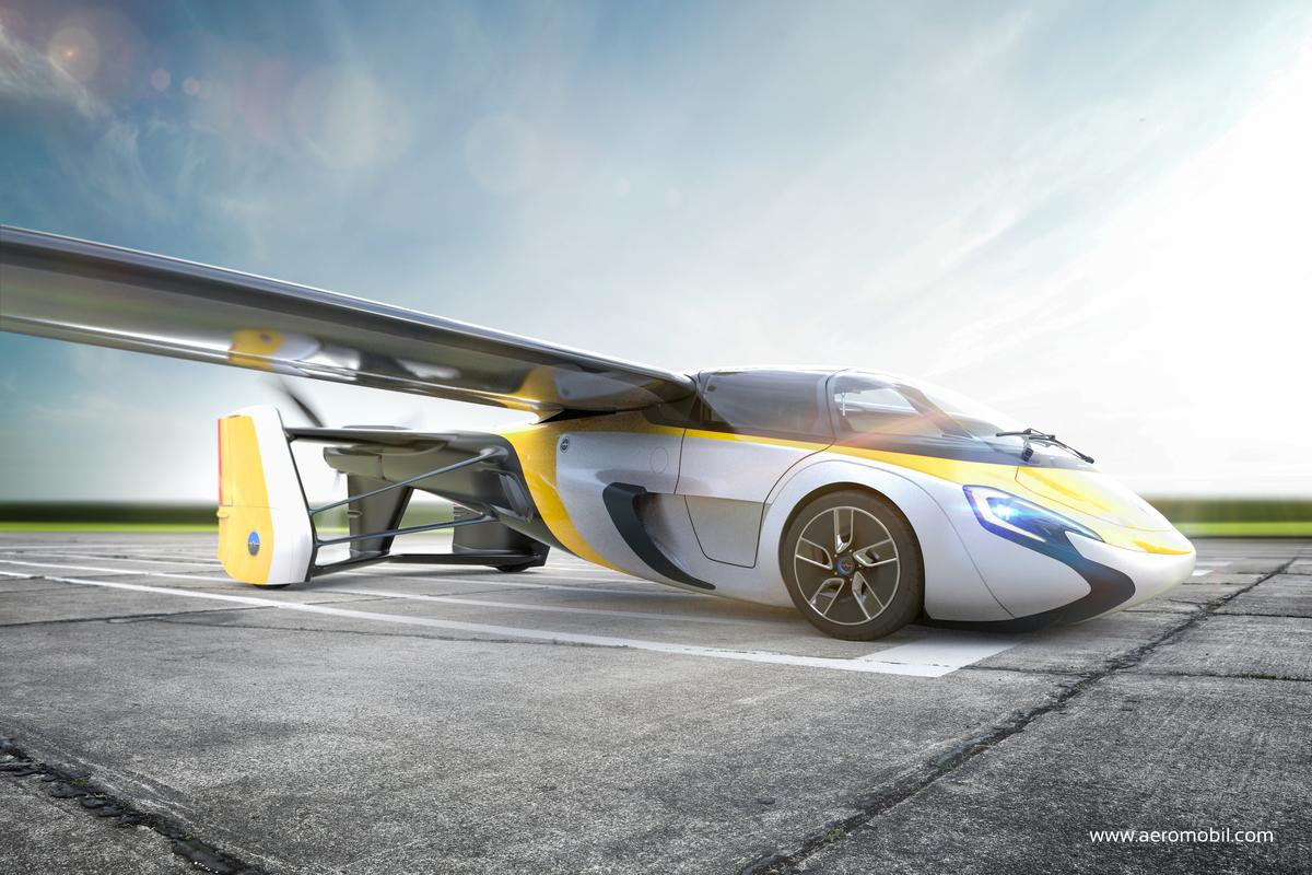 Render of the new AeroMobil flying car, set to be released and for sale on April 20