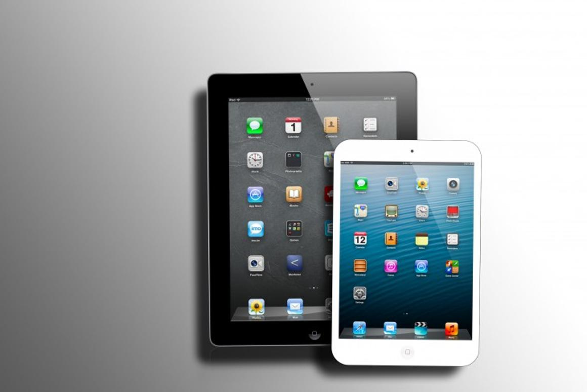 Perhaps this is what the iPad mini will look like next to its big brother