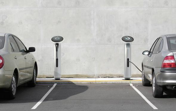 The new WattStation EV charging station could start appearing in parking areas early next year