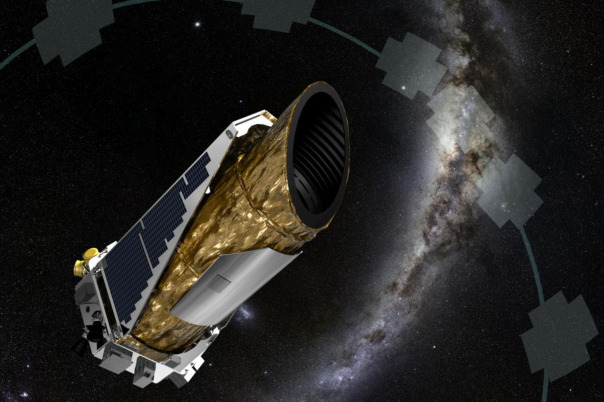 Artist's concept of Kepler carrying out its new K2 mission(Image: NASA Ames/JPL-Caltech/T Pyle)