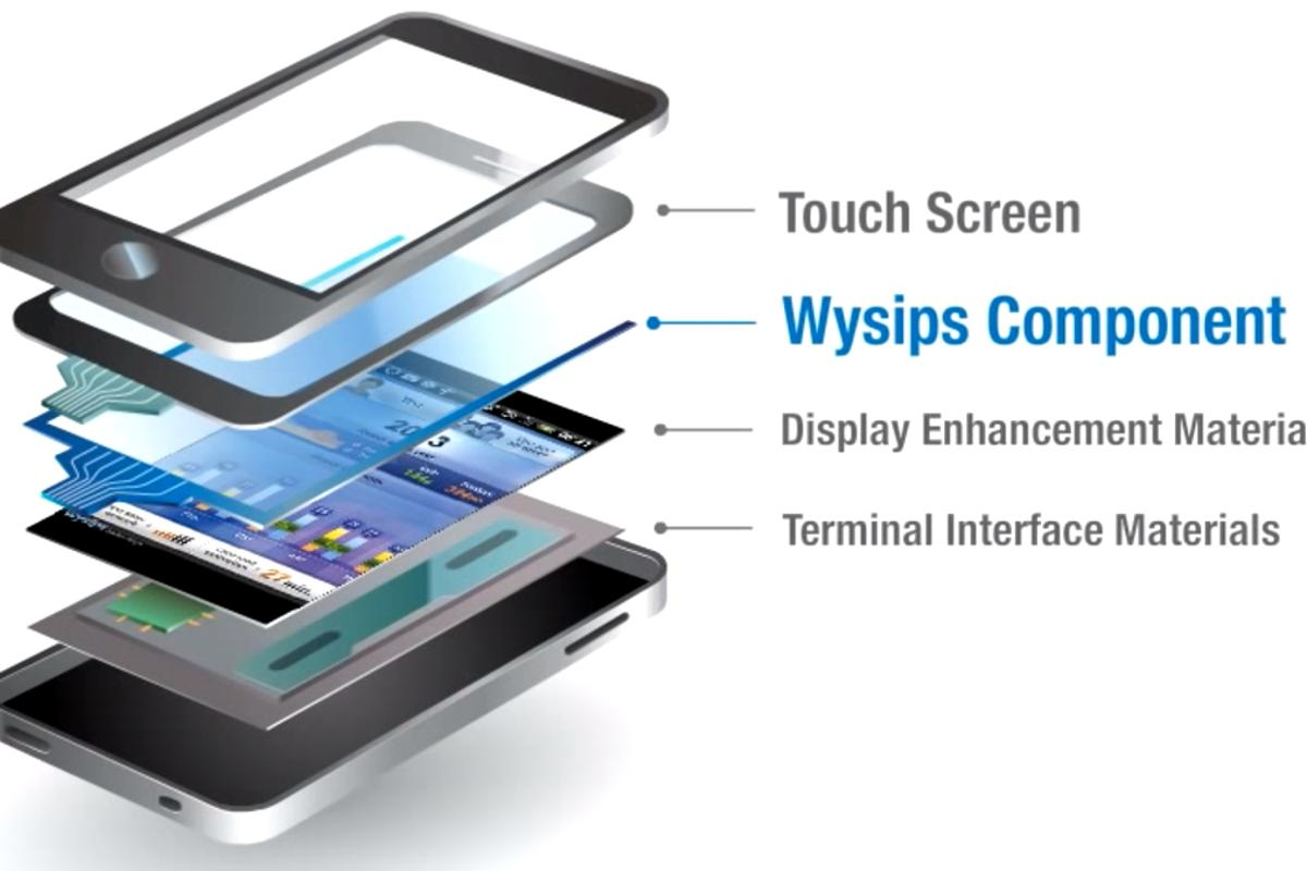 Kyocera has developed a smartphone prototype that features a display with a Wysips Crystal layer for harnessing power from the sun's rays