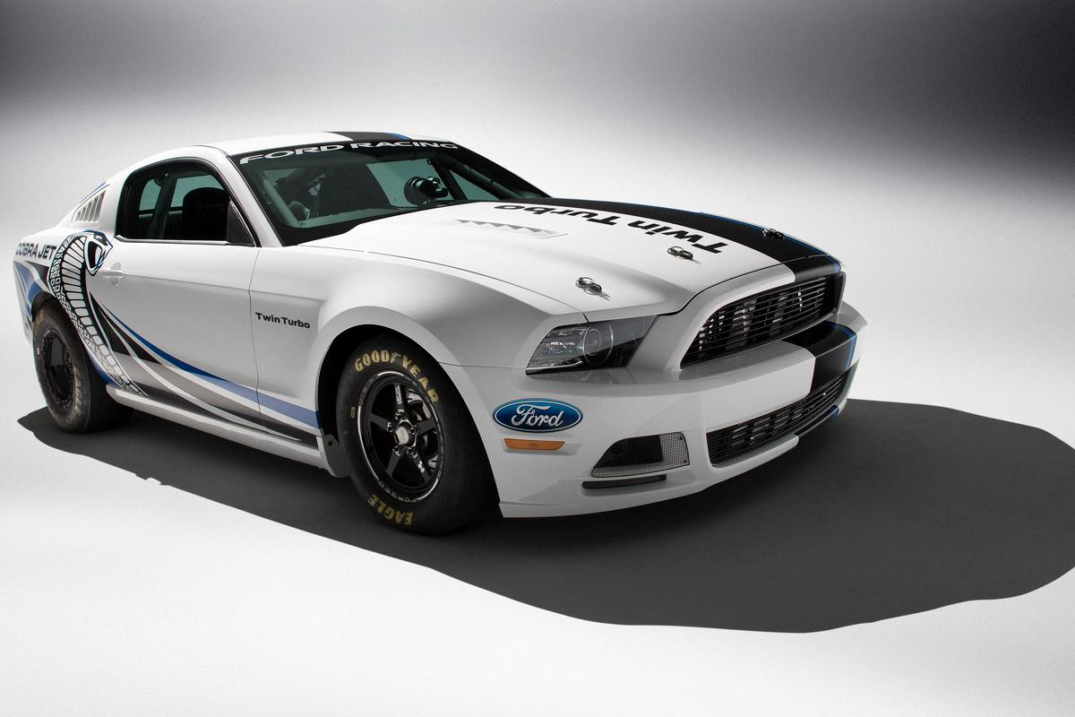 The Mustang Cobra Jet Twin-Turbo Concept in white