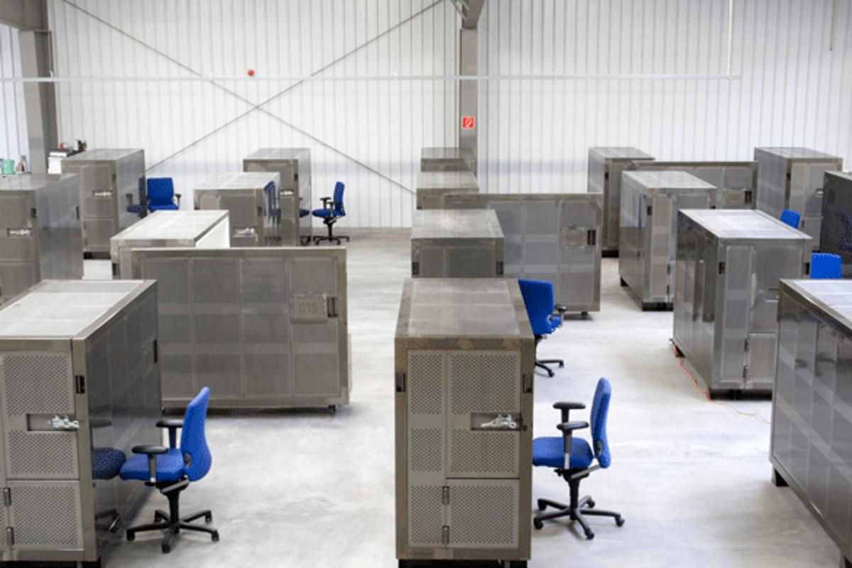 On trial in Amserdam, Beehive's new BEEBOXes are secure, mobile self-contained one or two-person offices