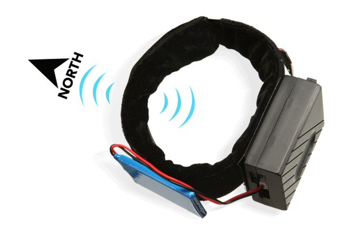 North Paw Directional Anklet Kit vibrates to provide a constant reference to magnetic north