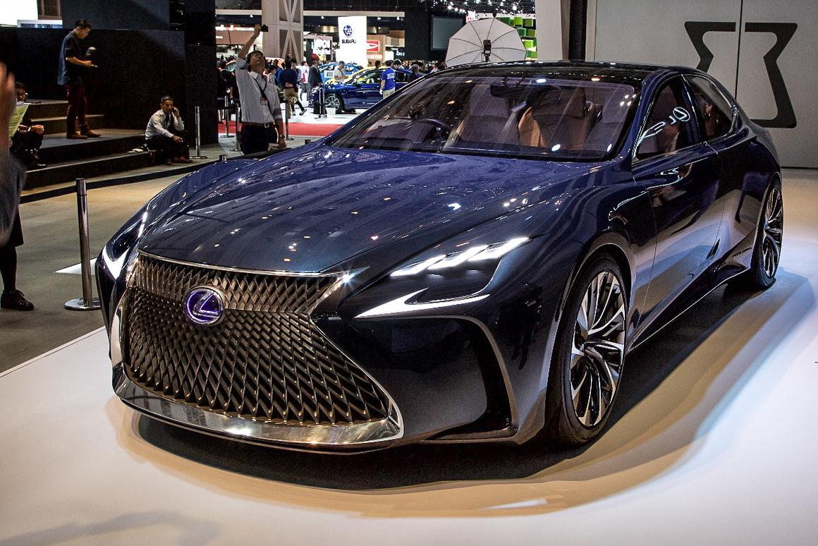 The LF-FC concept is on display at the Tokyo Motor Show this week