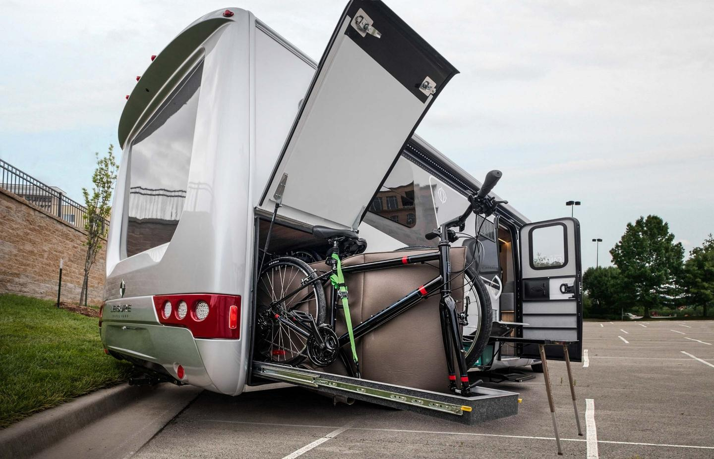 Leisure Travel Vans responds to the demand for a bicycle garage