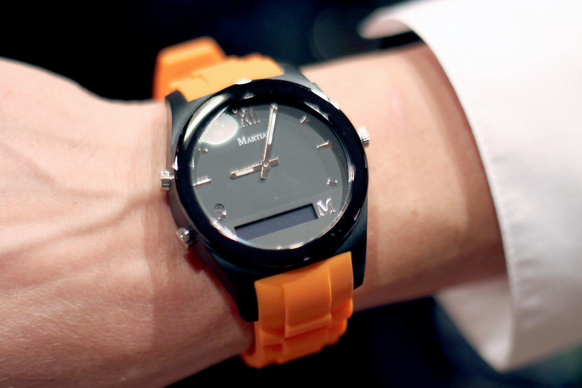 Gizmag checks out the Martian Notifier, a smartwatch that lets you know what's coming in without even looking at it