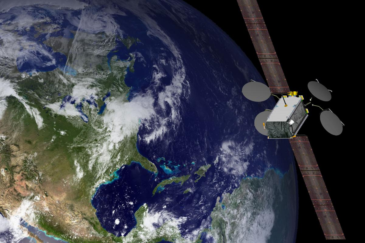 Artist's concept of the 702SP satellite (Image; Boeing