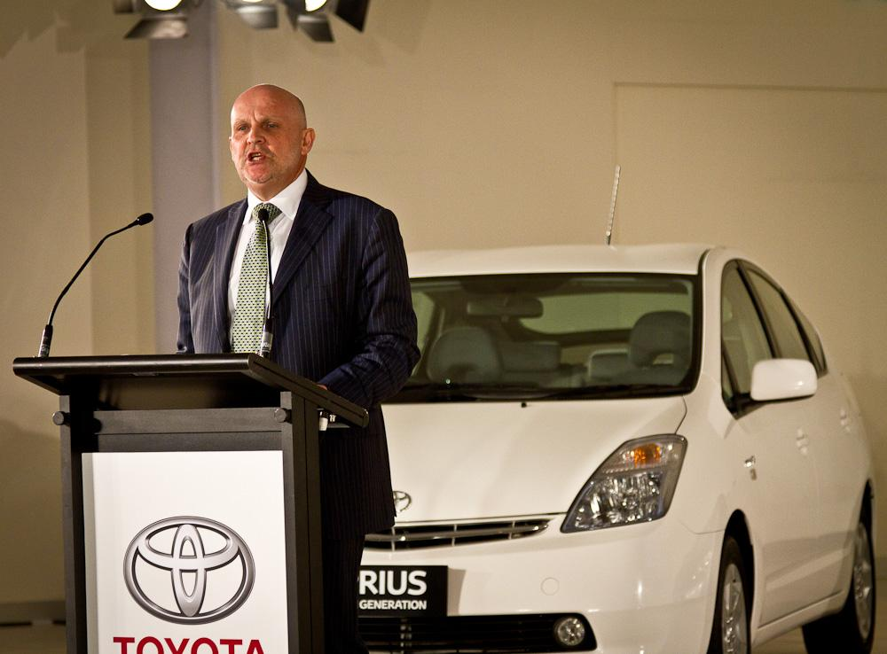 David Buttner, Toyota Australia's senior executive director of sales and marketing, at the press preview of the new Toyota lineup.