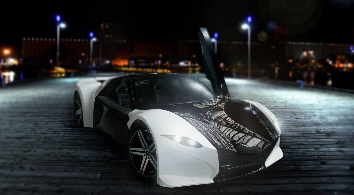 Tomahawk's design is premised around a traditional mid-engined architectural model, with similar proportions to a Ferrari 458 (Photo: Dubuc SLC)