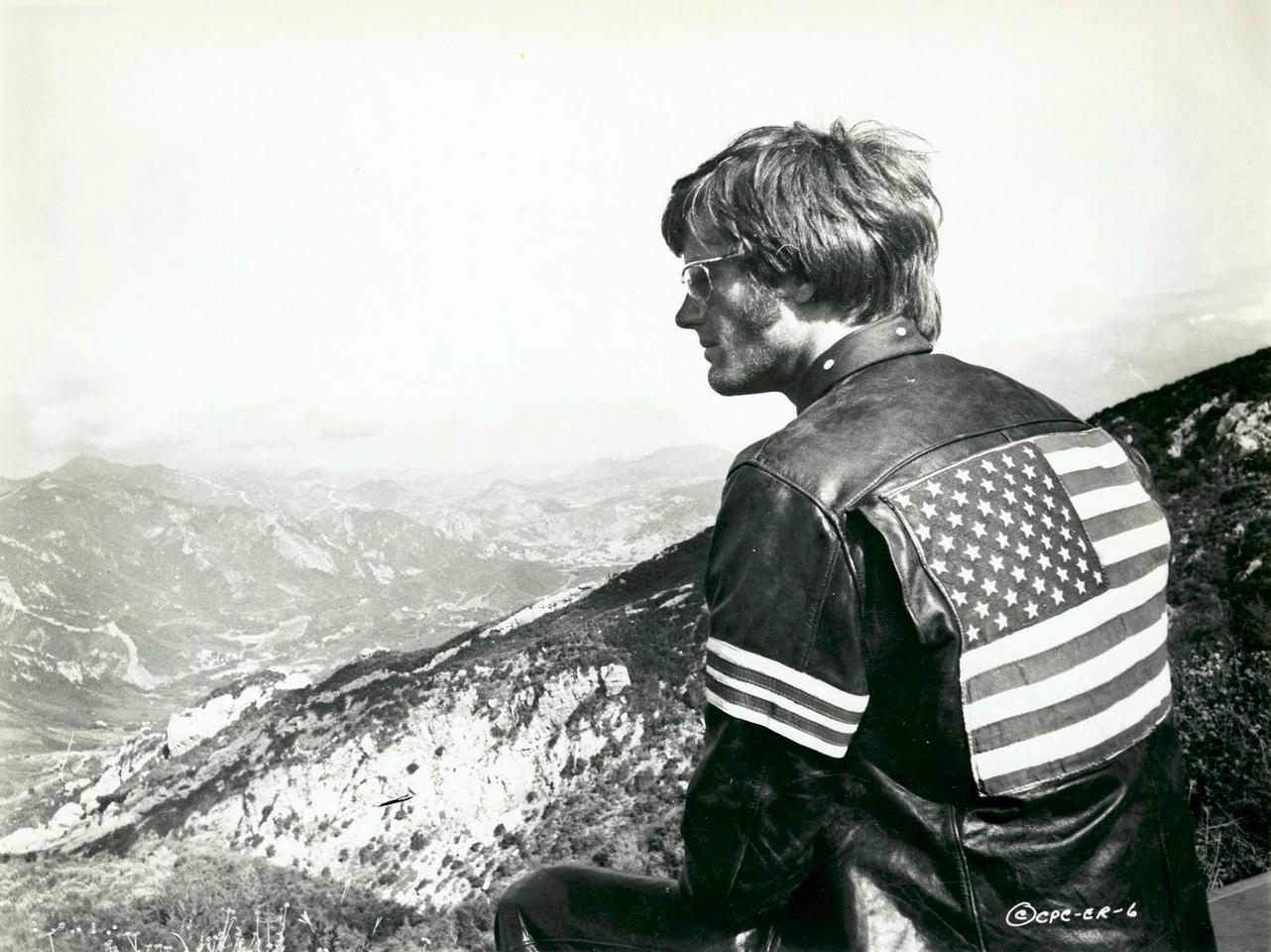 Peter Fonda as Wyatt from the movie Easy Rider. The cred this movie has at auction is astonishing - in 2007, the American flag patch from the back of Fonda's movie-worn jacket sold at Heritage Auctions for $89,625.