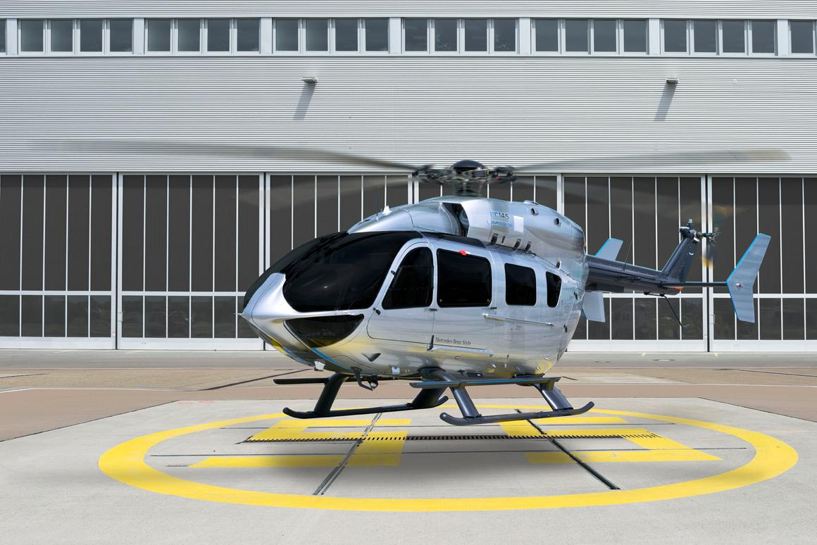 Eurocopter's EC145 Mercedes-Benz Style luxury helicopter