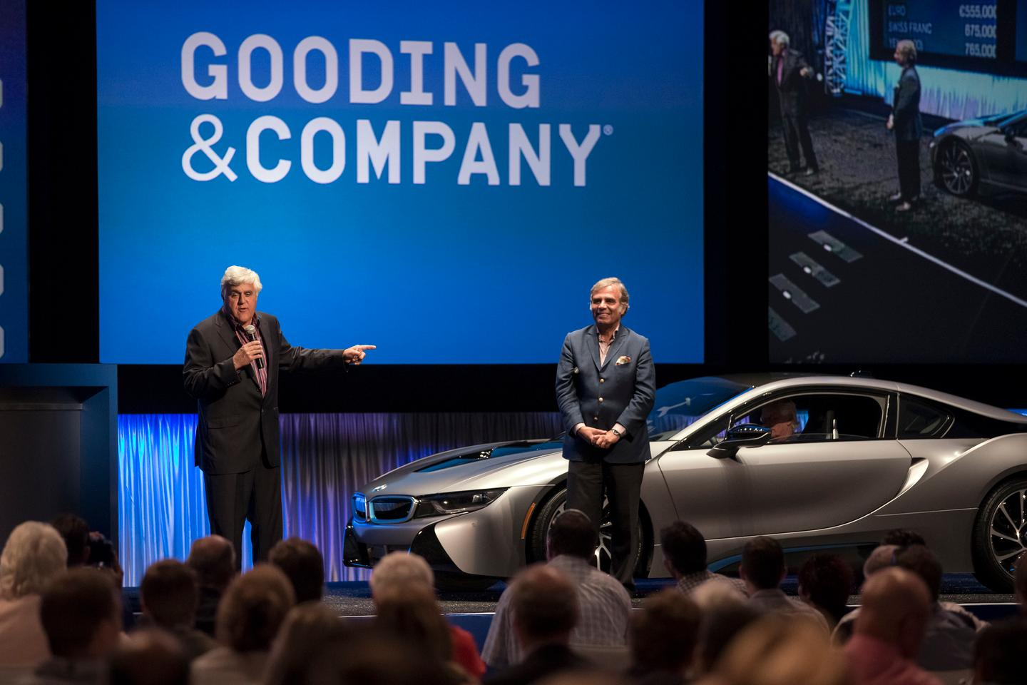 Jay Leno was on hand to introduce the auctioned i8 one-off