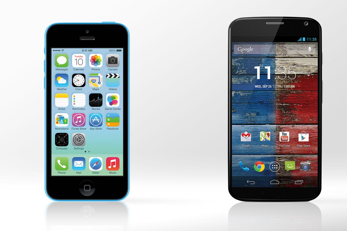 Gizmag compares the specs and features of Apple's iPhone 5c and Motorola's Moto X