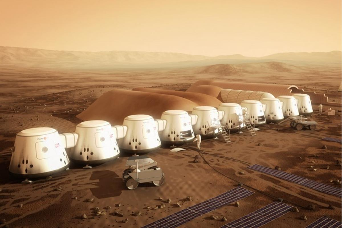 Mars One's vision of a Martian base