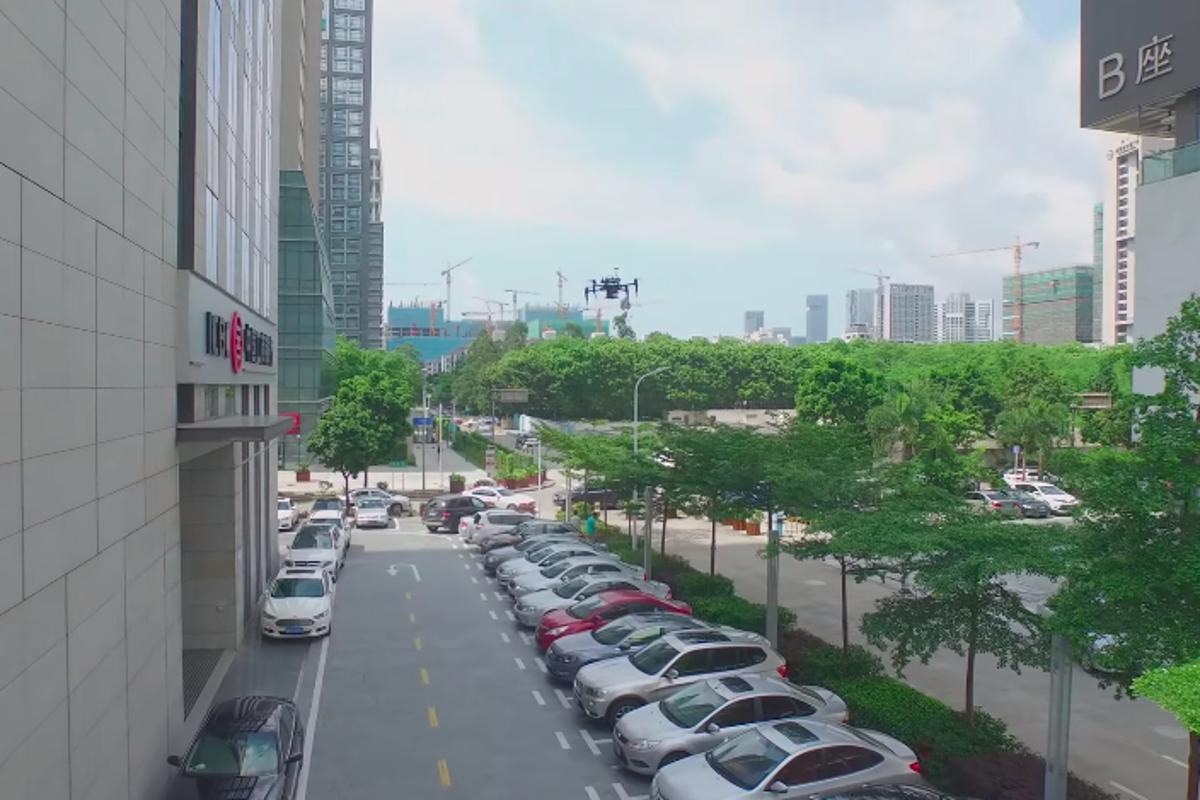 A project at Shanghai's Fudan University demosntrates Guidance's capabilities by identifying illegally parked cars from above