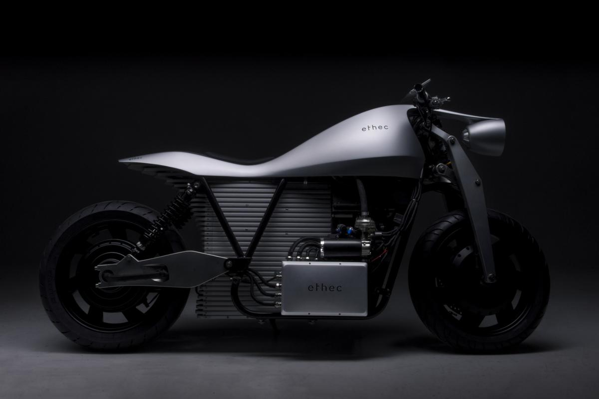 Ethec electric motorcycle:nice details, nice shapes ... awful combination
