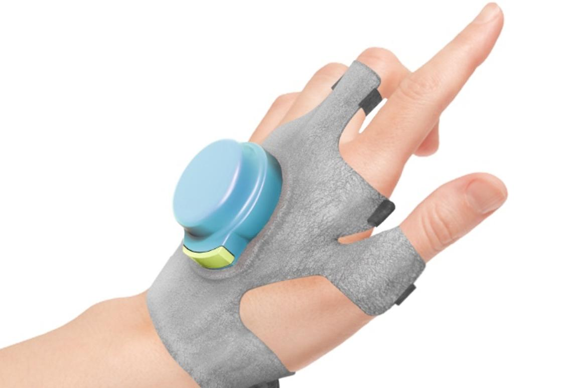 The GyroGlove uses internalspinning discs to smooth out the shakes