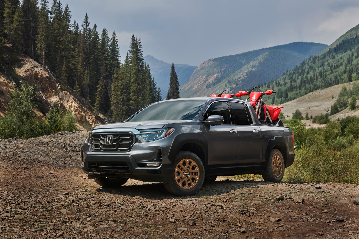 With the 2021 Ridgeline, Honda really wants to emphasize the truck's ruggedness